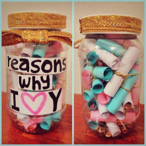 Reasons why i love you diy jar