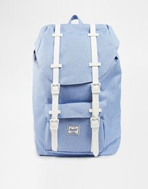 a80277fb0a Herschel Supply Co Little America Backpack in Chambray Blue