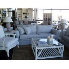 East Hampton Coffee Table has the beautiful white frame with a glass top