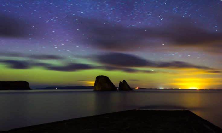 The northern lights over the coast of Caithness. Photograph: Graham Mackay
