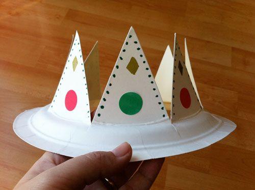 Corona de rey mago disfraces pinterest manualidades - Como hacer una manualidad ...