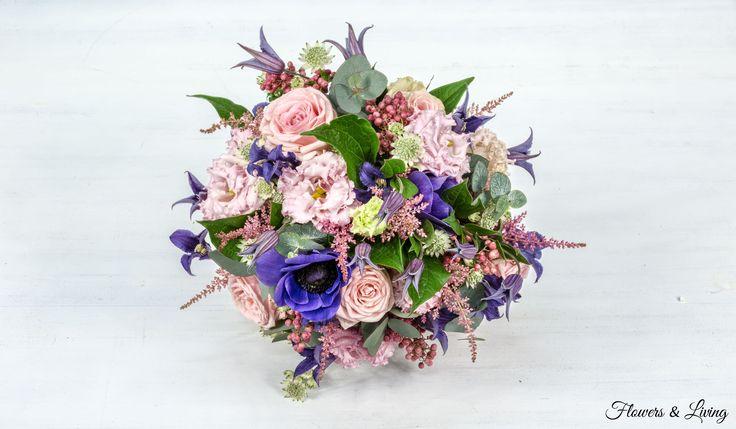 Růžovo-modrá | Flowers - LivingFlowers – Living