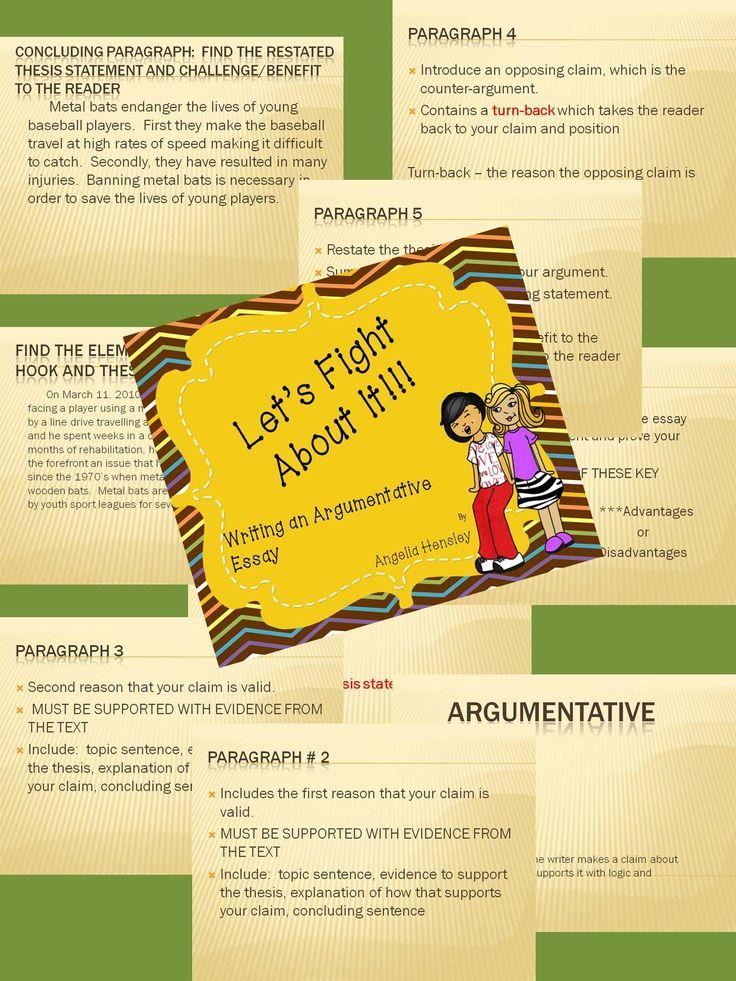Teaching argumentative essay