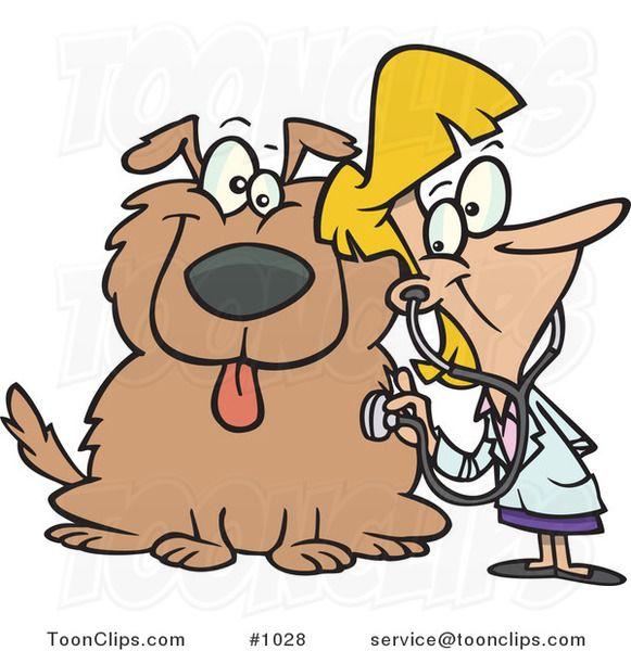 Veterinario De Dibujos Animados Mujer Usando Un Estetoscopio En Un Perro Cartoon Cool Cartoons Cartoon People