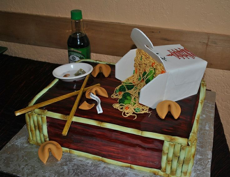 chinese food-noodles-takeout-Grooms cake-The cake Zone-Sarasota-Tampa-FL