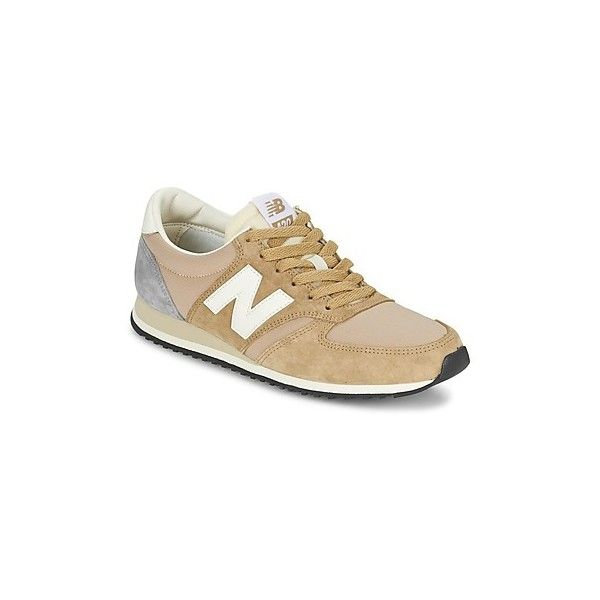 New Balance U420 Shoes (Trainers) (€84) ❤ liked on Polyvore featuring shoes, beige, trainers, women, leather sneakers, new balance shoes, beige sneakers, leather trainers and new balance trainers