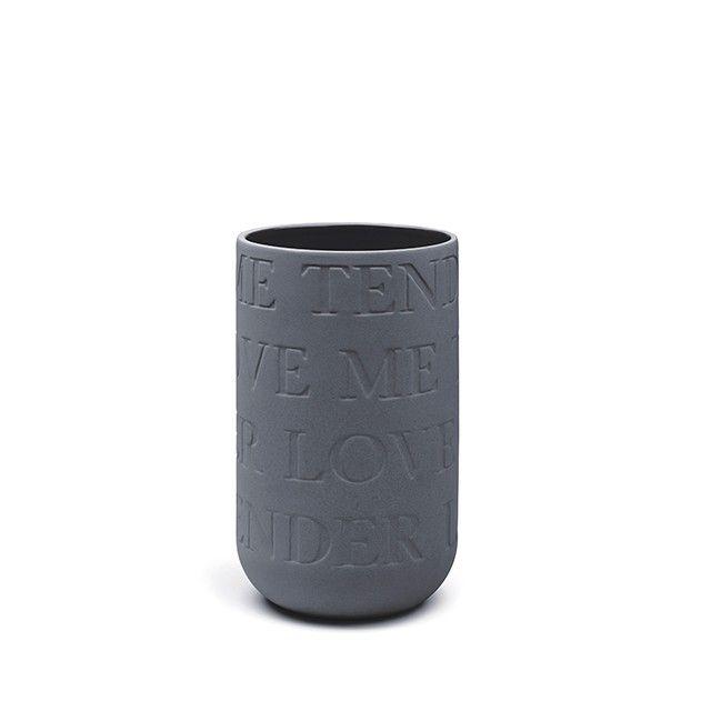 Love Song Vase Anthracite Medium