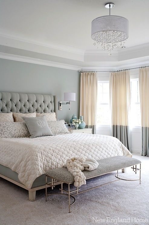 Soft Bedroom Colors @ Home Improvement Ideas Wish I didn't need a fan in the bedroom love the light.