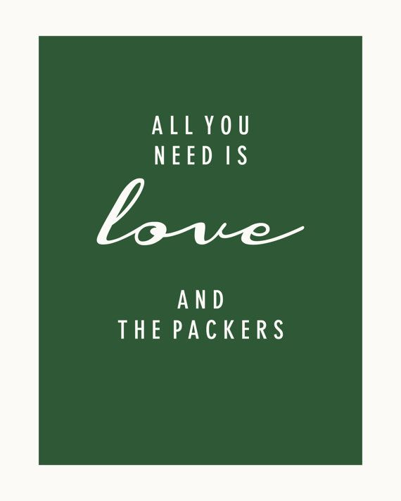 SALE! $2 for 3 8x10 downloads: All You Need Is Love and The Green Bay Packers.