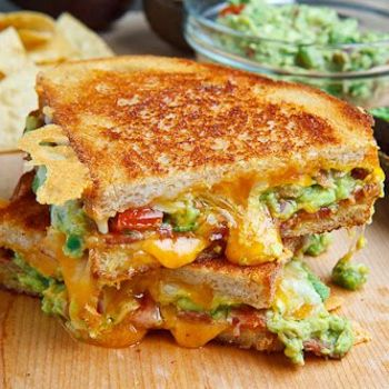 Bacon Guacamole Grilled cheese sandwiches