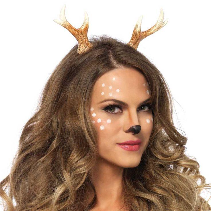 Herten gewei haarband bruin - Kostuum Party Halloween