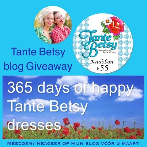 Hey girls daar ben ik weer met een nieuwe Tante Betsy winactie, terwijl er zelfs nog een andere op mijn Facebook pagina  loopt. Wow er doen ...