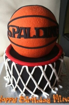 basket ball themed birthday cake