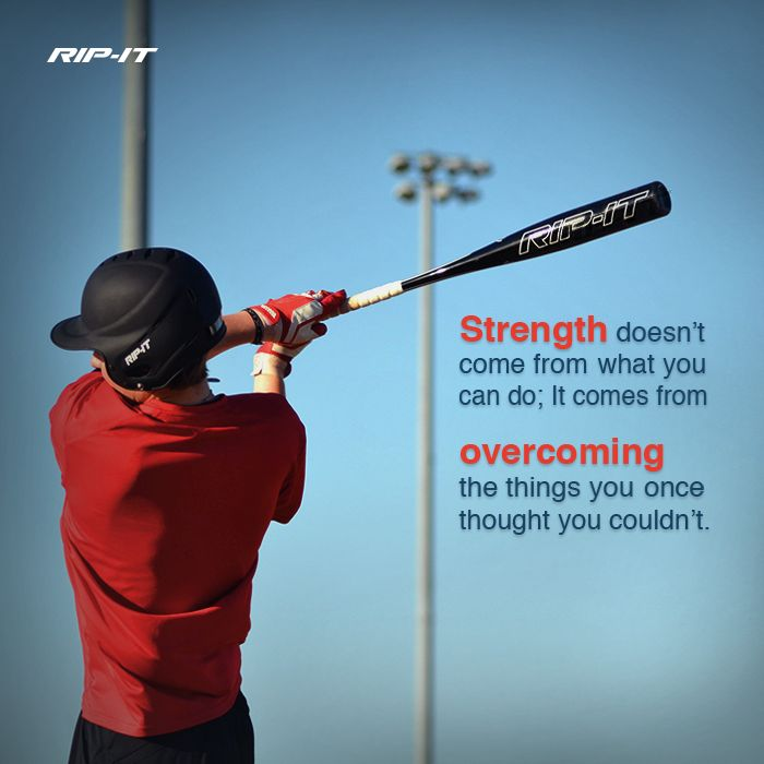 Strength = overcoming obstacles. Pick up a Rip-It baseball bat at JustBats.com! #JustBats