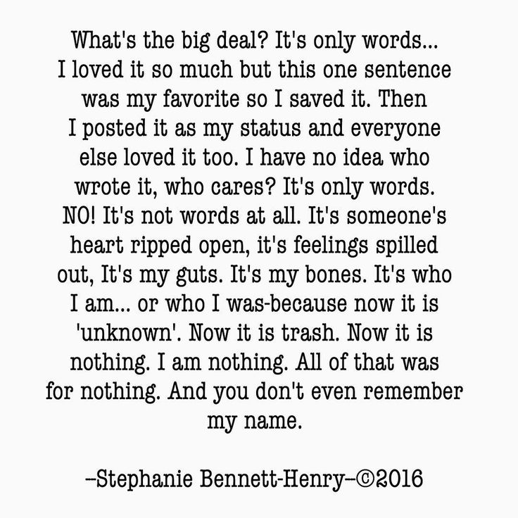 What's the big deal? It's only words... #stephaniebennetthenry #poem #poetry