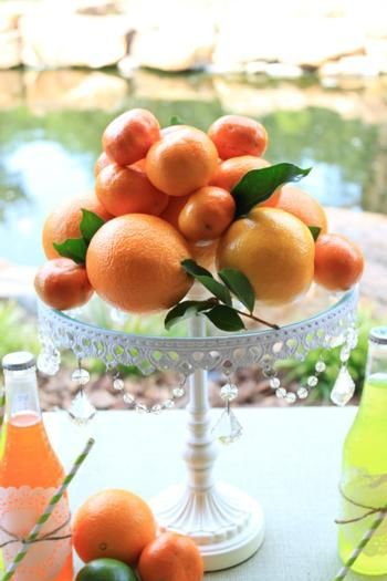 Citrus Centerpieces - Spring Florals | Bright Bold and Beautiful Blog