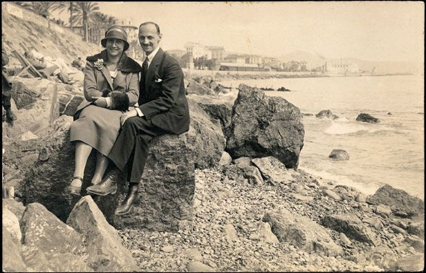 Otto and Edith on their Honeymoon -