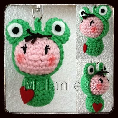 #haken, gratis patroon, amigurumi, sleutelhanger, #crochet, free pattern (Dutch), keychain