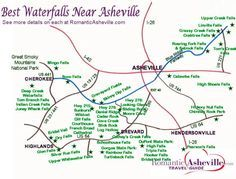 Asheville NC Waterfall Map trip is mapped out