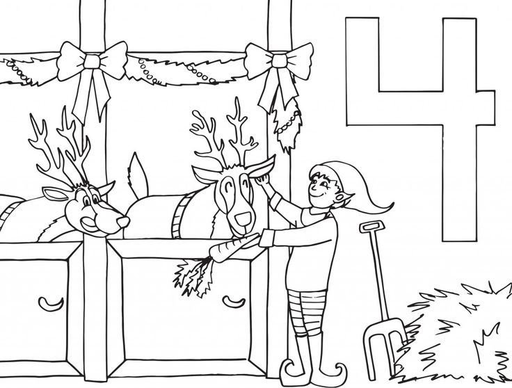christmas advent calendar coloring pages | 44 best Christmas coloring calendar images on Pinterest ...
