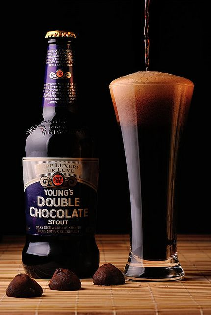 Young's Double Chocolate Stout. A very chocolaty beer great for pairing with rich desserts. If you like chocolate raspberry cake, try drinking this with it.