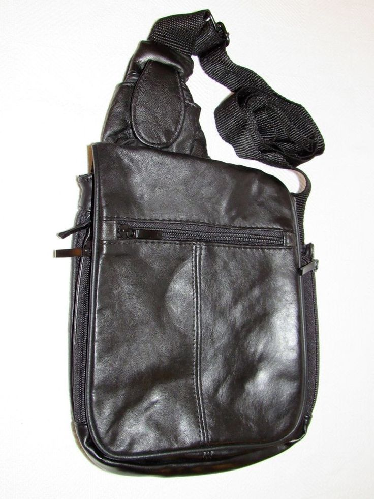 Bb design black leather cross body expandable travel bag for Bb design