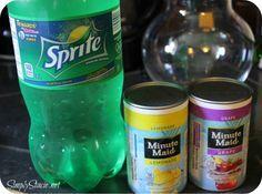 Grape lemonade :) Minute Maid makes the best punch starters!