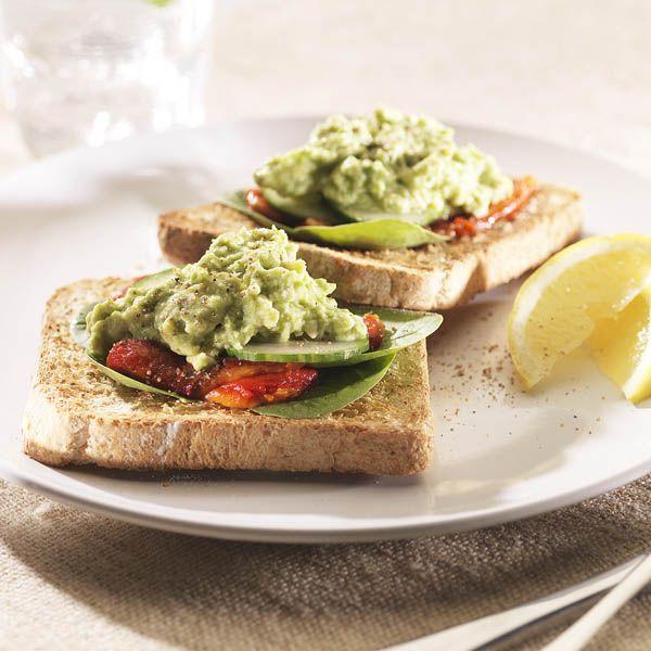Gourmet Veggie Toast with Avocado Feta Mash   #BakersDelight  #Recipe