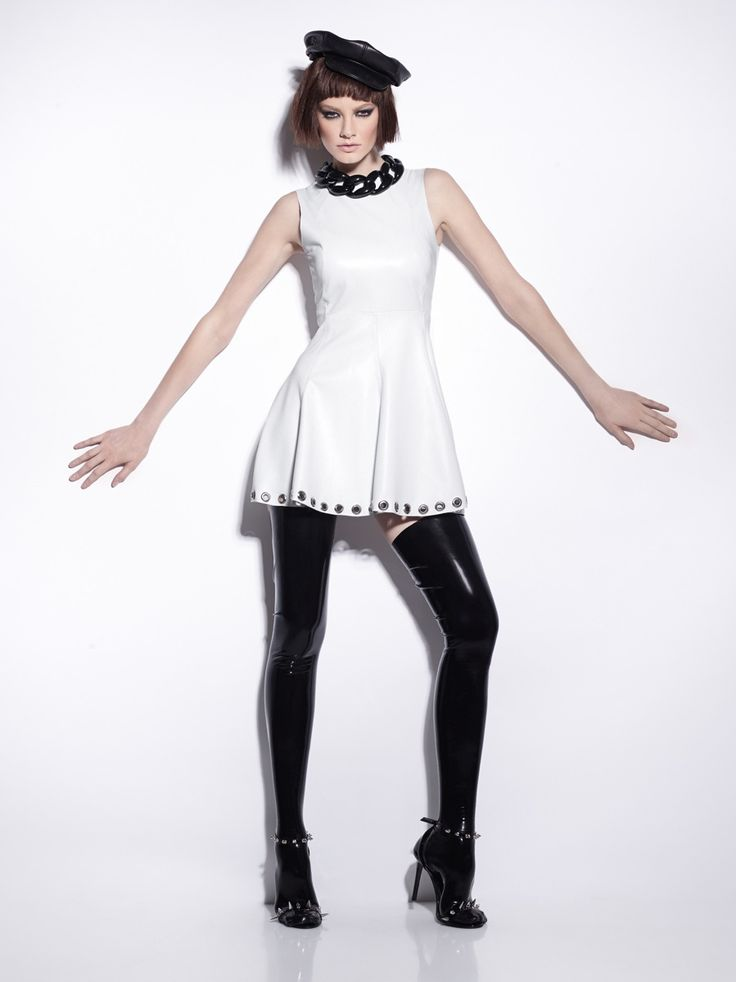 #manokhi white leather dress ! Just fabulous !