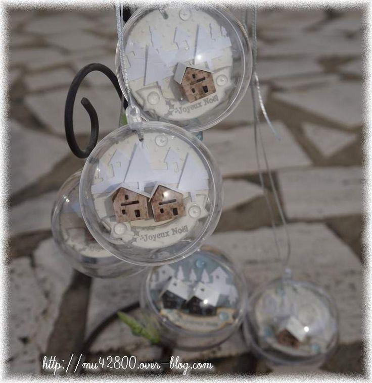 [ déco ] boules transparentes de Noël
