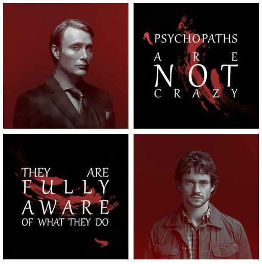 Hannibal. Mads Mikkelson and Hugh Dancy. Might need my own board for this show soon. It's getting a bit much. Very well done and I am huge fan of books and other movies so am picky. Yes I am disturbed.