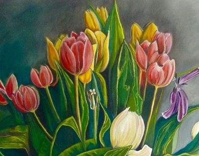"""Check out new work on my @Behance portfolio: """"Tulipes"""" http://on.be.net/1MC9zQX"""