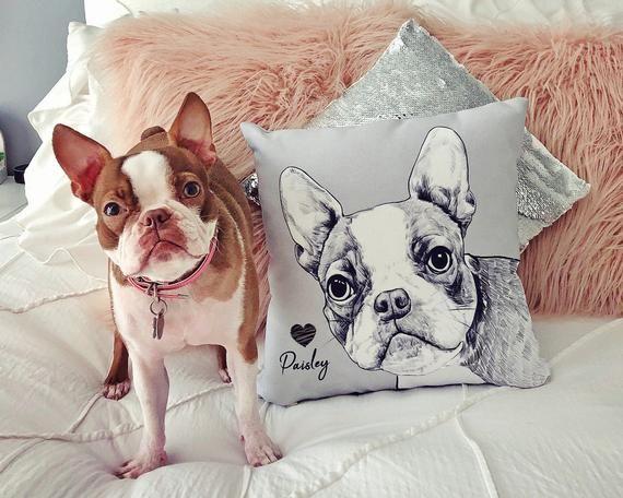 custom dog pillow personalized dog