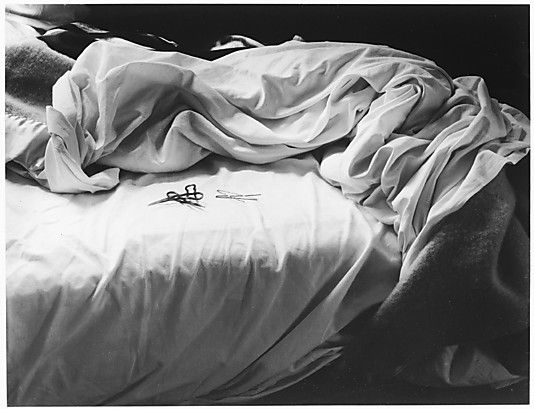 The Unmade Bed; photo by Imogen Cunningham 1957. Gelatin silver print.