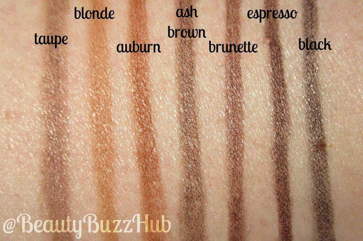 BeautyBuzzHub: Drugstore Brow Routine • NYX Micro Brow Pencil • Demo • Swatches • Comparison vs. Anastasia Brow Wiz