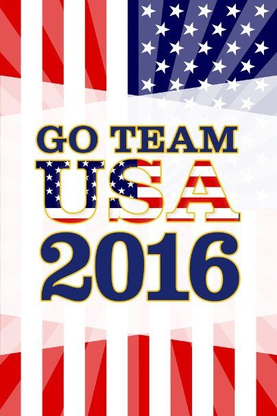 Rio De Janeiro Go Team USA 2016 Summer Games Brazil Colorburst Flag Stars And Stripes Poster 12x18