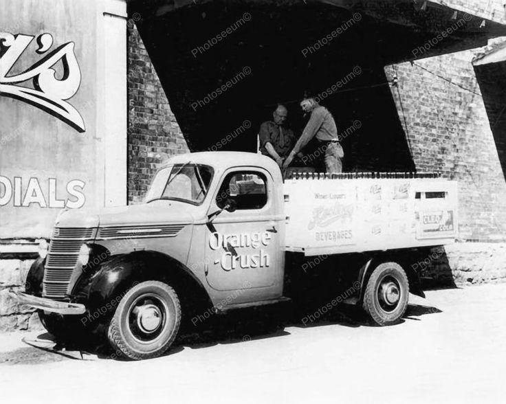 Orange Crush Soda Delivery Truck 1930's Vintage 8x10 Reprint Of Old Photo