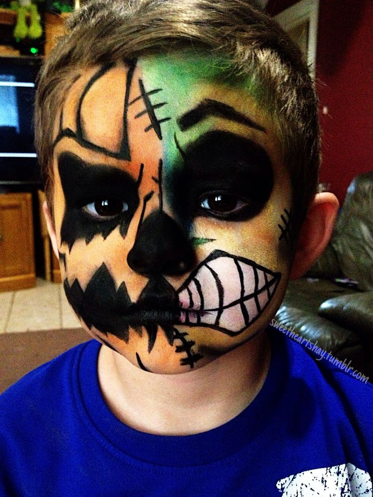 jack o zombie little boy halloween face paintmakeup - Spirit Halloween Medford Ma