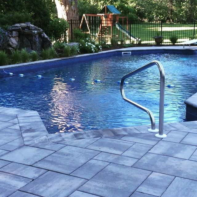 35 best paving stone design ideas images on pinterest for Pool design long island