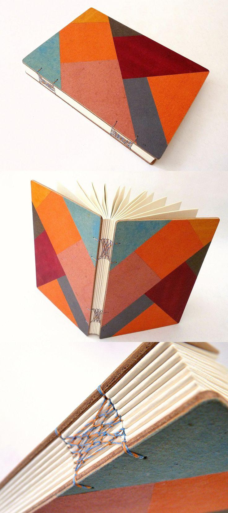 Encadernação macramê, capa com mosaico em recouro. Luisa Gomes Cardoso para o Canteiro de Alfaces