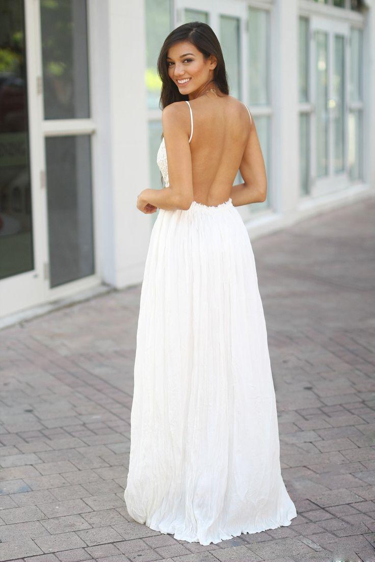 white wedding maxi dress