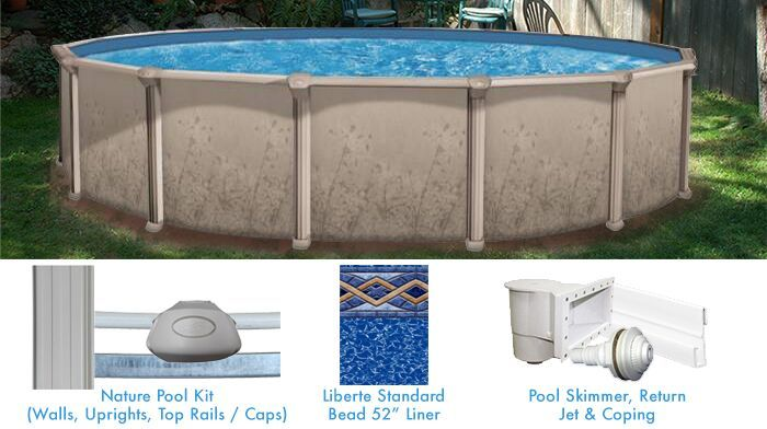 Nature 52 Tall Buttress Free Steel Pool In 2020 In Ground Pools Above Ground Pool Pool Supplies