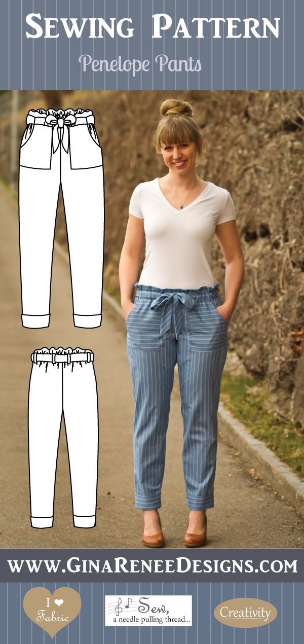 New:: Penelope Pants Sewing Pattern 1