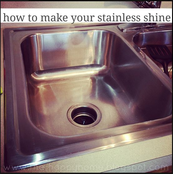 cleaning stainless sink// this really works! just did it to  my kitchen sink. -BS