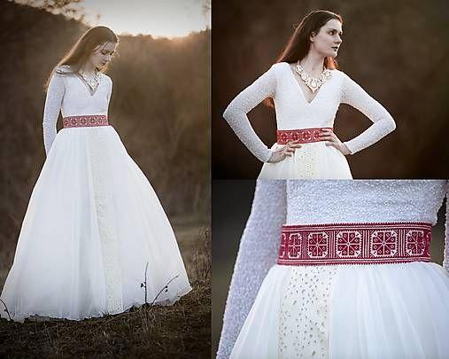 Modern folk style wedding skirt,