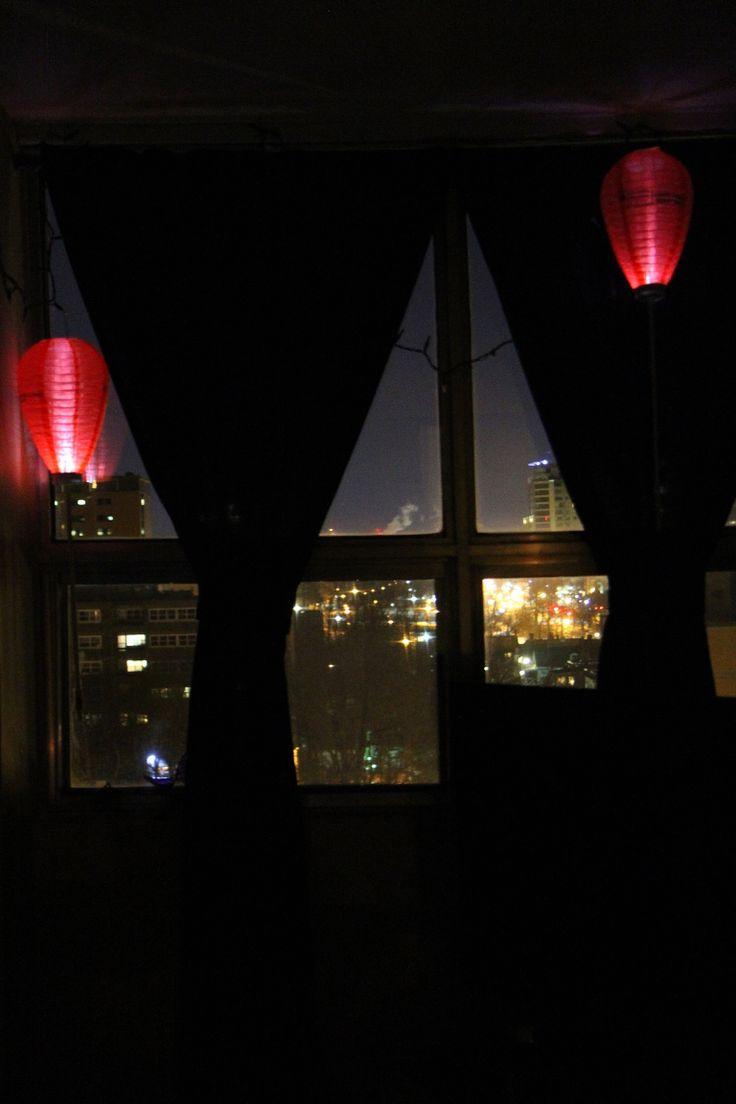 World cancer day lanterns