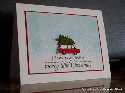 Ink-Creatable works of heart: Bringing Home The Christmas Tree/CASology Week #171