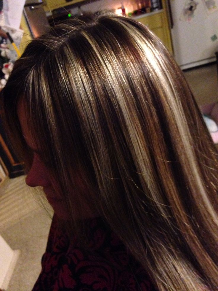 High Contrasting Color Foils Hair Cute Hair Styles