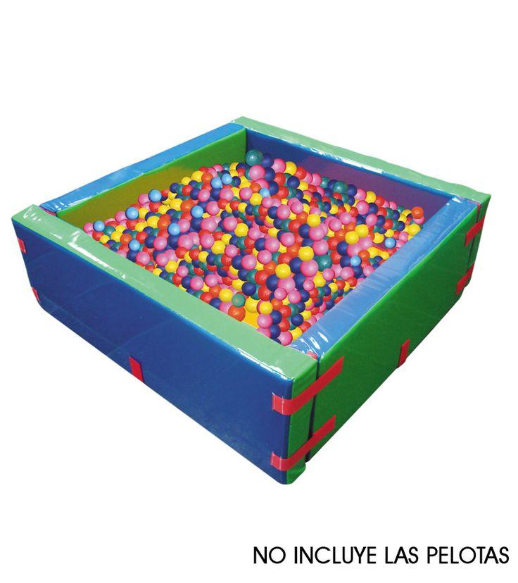 Piscina de pelotas cuadrada en espuma.  Edad +3 Ref 8-03118-35-51