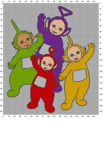 Teletubbies Knitting Pattern : 7 best images about Perler: *Teletubbies* on Pinterest Cross stitch, Knitti...